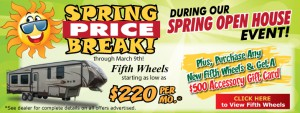 spring fifth wheel sale