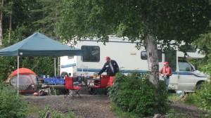 family camping in alaska