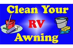 clean rv awning