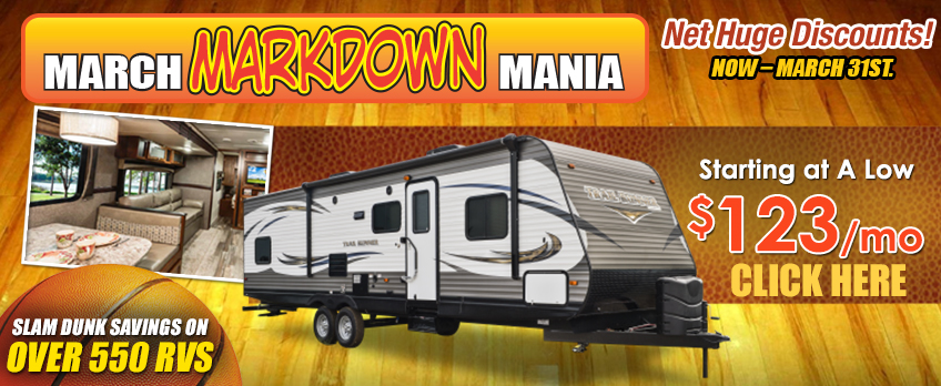 Markdown mania travel trailer