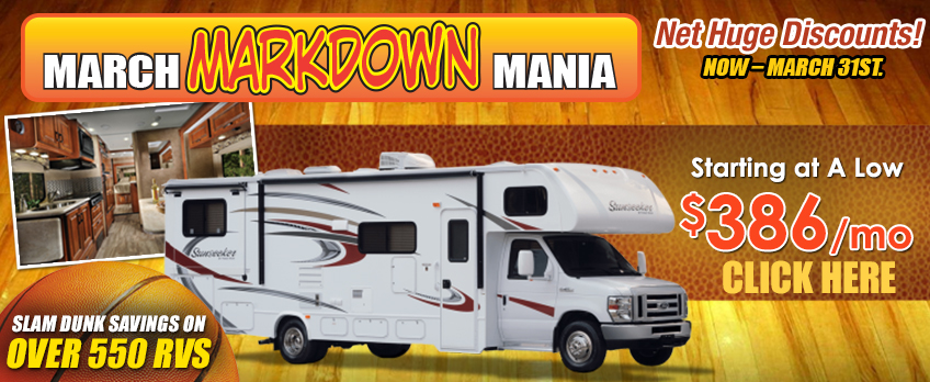 March markdown mania motorhome