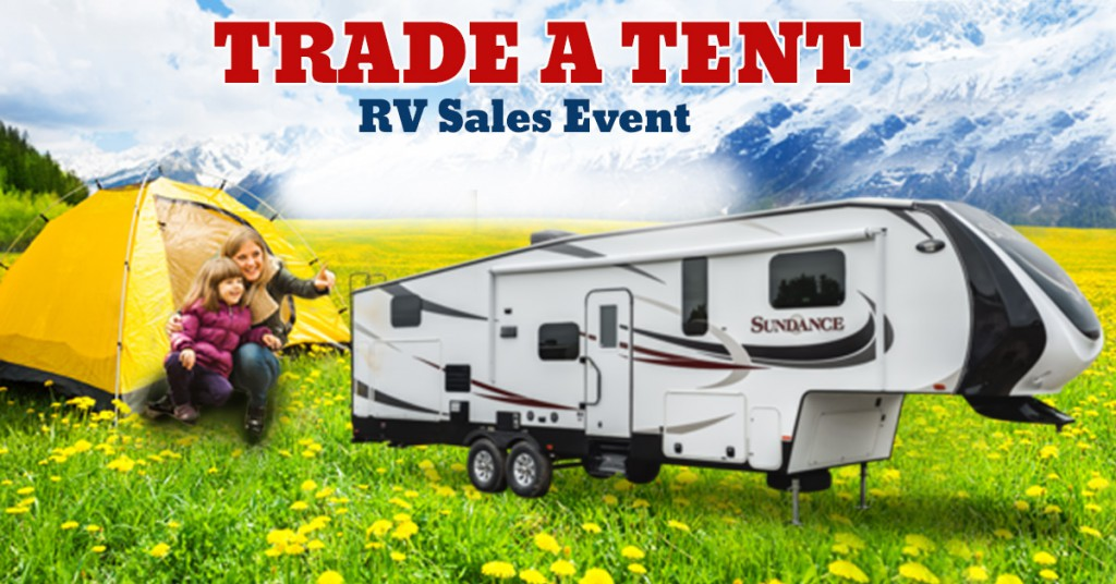 Trade a tent sale