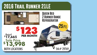 trail runner travel trailer