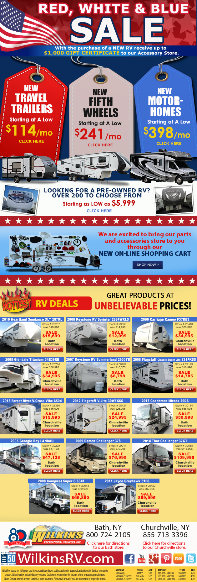 Wilkins RV sale