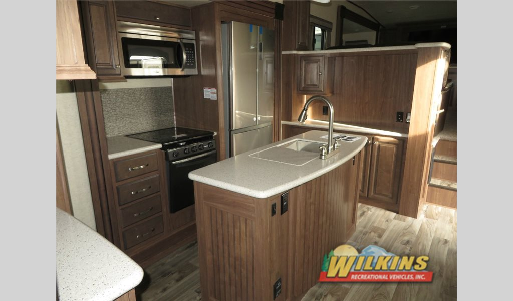 Heartland Elkridge Fifth Wheel Kitchen