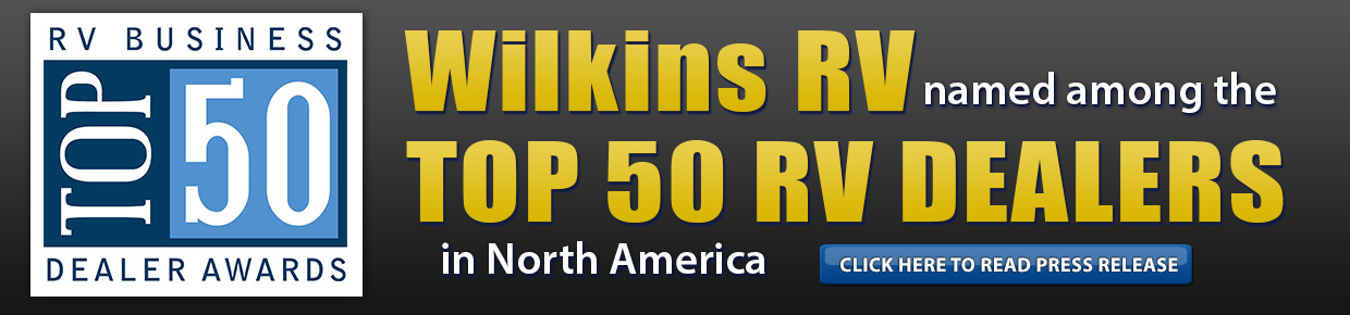 Wilkins RV Top 50 Dealer Award