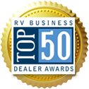 Wilkins RV Top 50 Dealer Badge