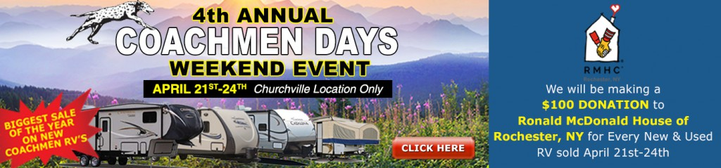 coachmen sales event
