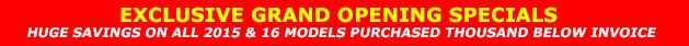 Grand Opening Wilkins RV Specials