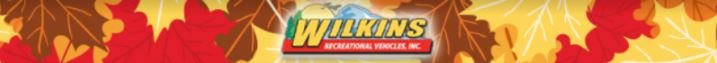 Wilkins RV Fall Clearance Header