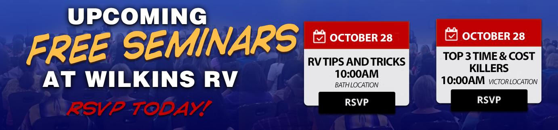 RV Seminars Wilkins RV October