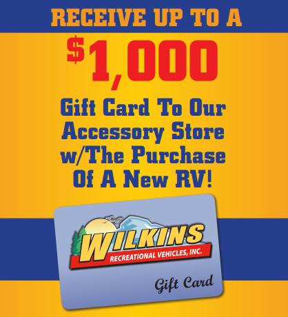 Wilkins RV Pre-Season Sales Event Gift Card