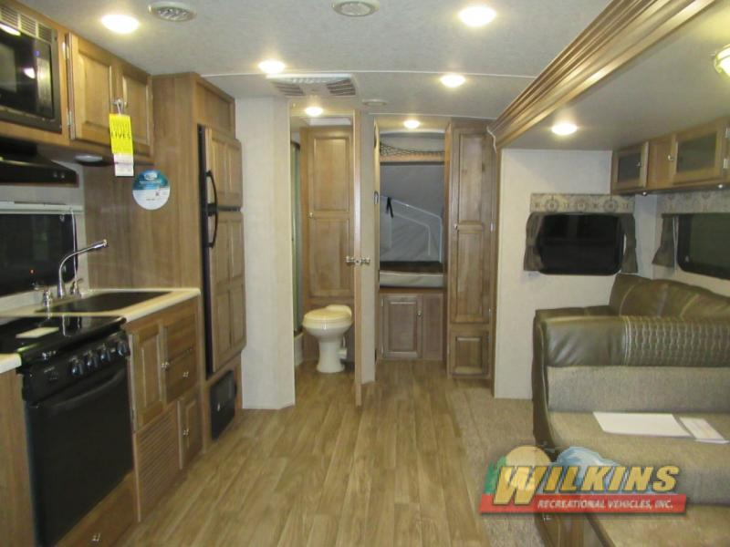 Flagstaff Shamrock Expandable Hybrid Camper RV Travel Trailer Interior