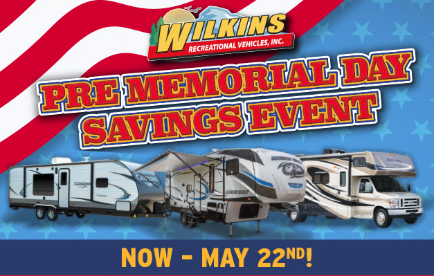Wilkins RV Memorial Day Sale