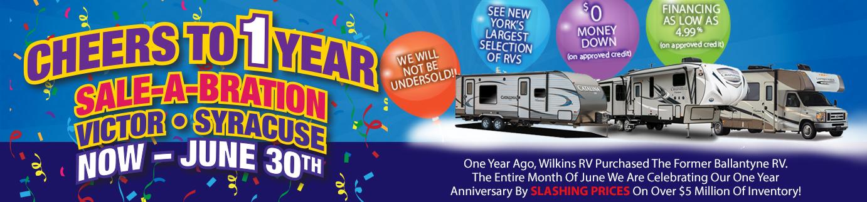 Wilkins RV Victor Syracuse One Year Anniversary Sale - rv sale
