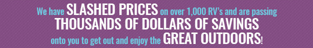 National Great Outdoors Month June RV Sale Wilkins RV Slashed Prices