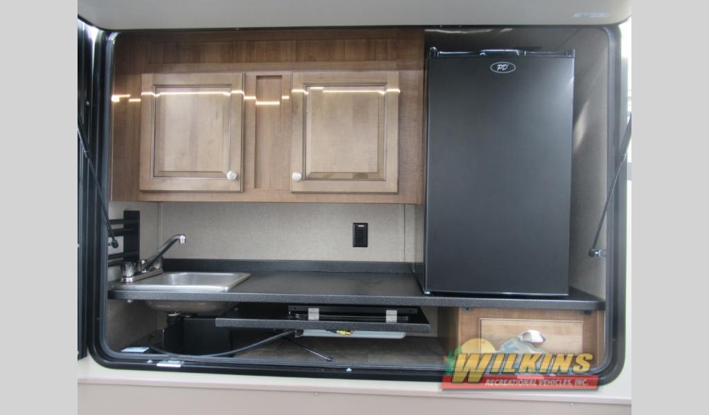 Flagstaff Classic Travel Traile RV Floorplan Outdoor Kitchen