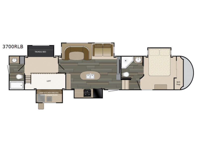 Heartland Sundance Fifth Wheel RV Floorplan 2 Full Baths