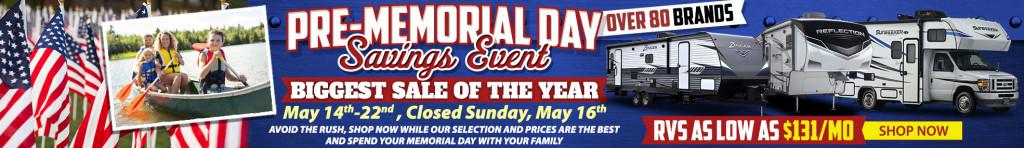 Pre-Memorial Day RV Savings Event